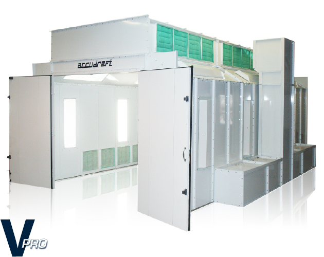 v50 side draft paint booth accudraft paint booth