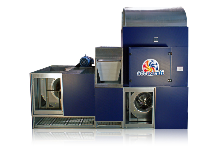Accudraft KD Series Integrated Paint Booth Air Makeup Unit with Heat Recycle