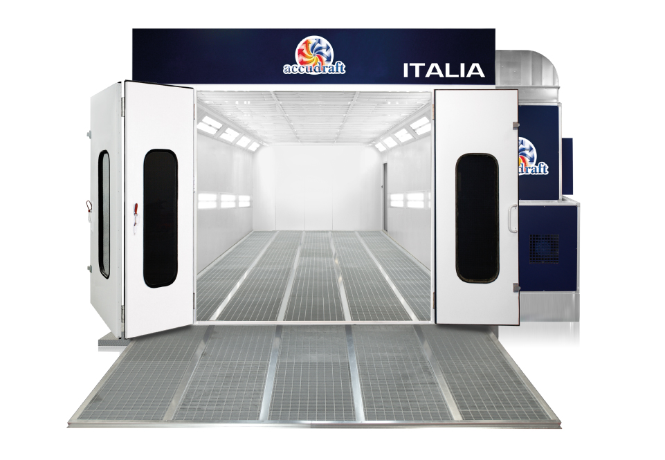 Accudraft-Italia-Automotive-Pitless-Dondraft-Paint-Booth-with-Ramps