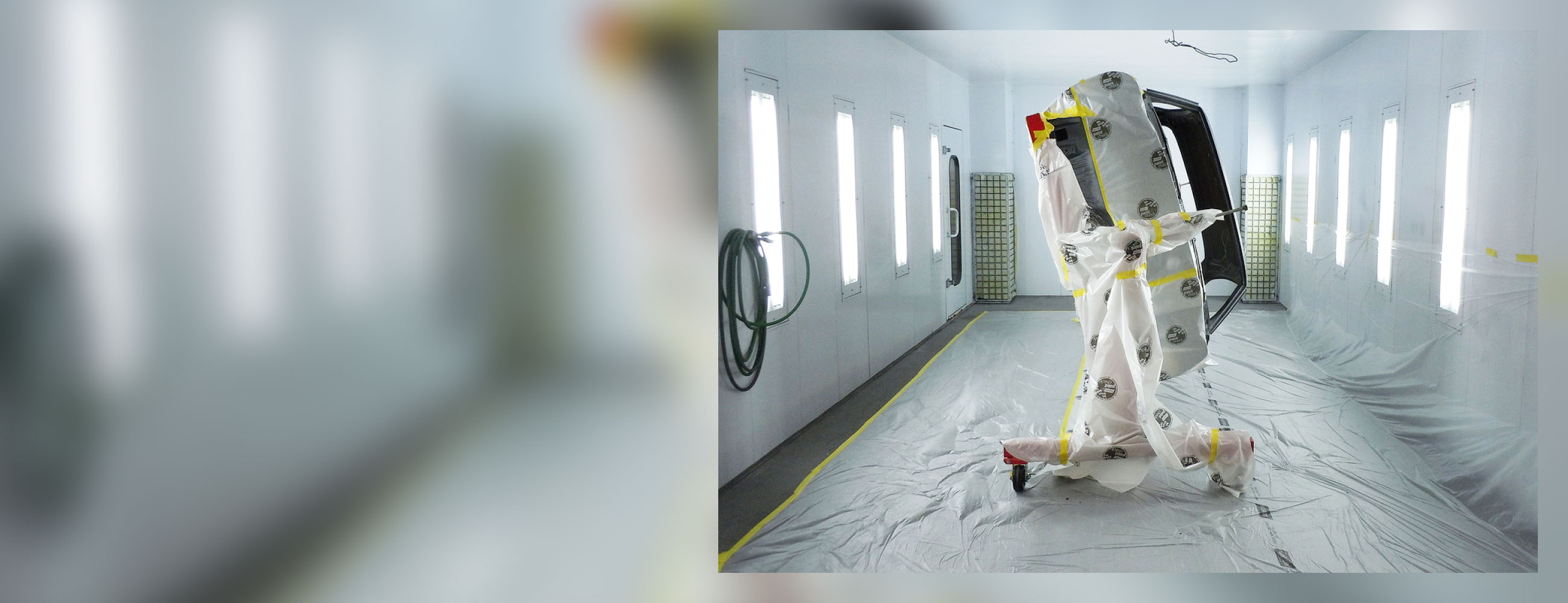 Space saver paint booth