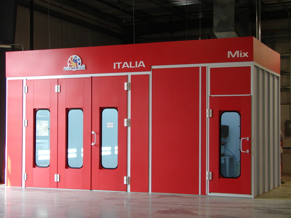 Fully Loaded Italia Paint Booth On Sale Accudraft
