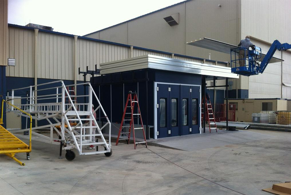 Outdoor-Paint-Booth-Installation
