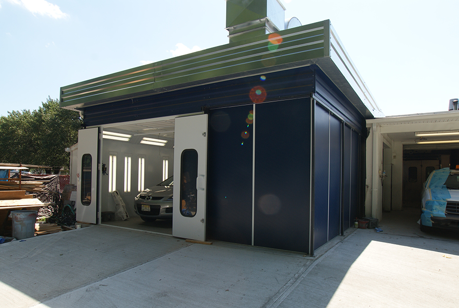 Outdoor-Paint-Booth-On-a-Concrete-Pad