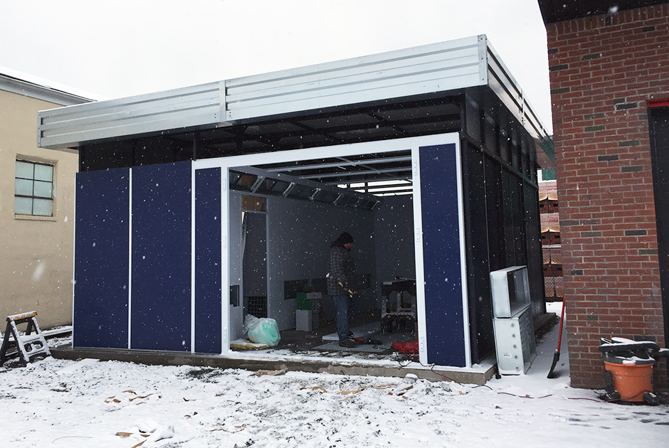 Outdoor-Paint-Booth-with-Snow