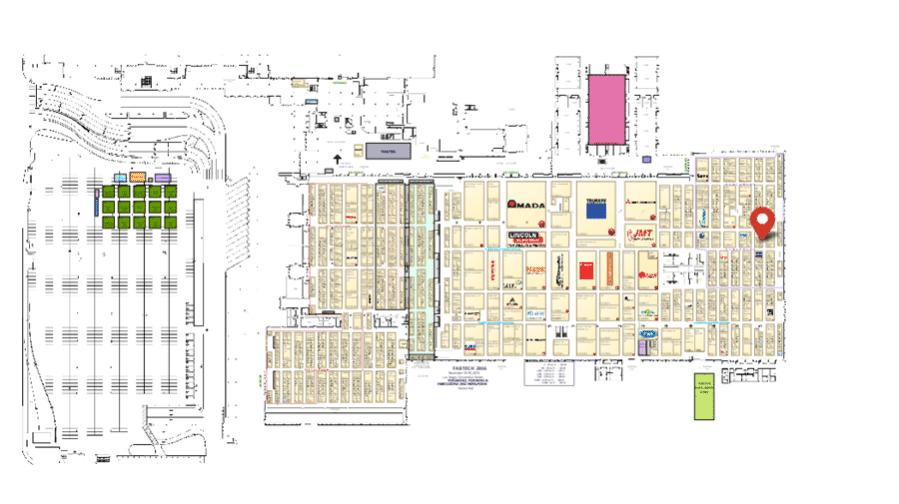 2016 Fabtech Expo Vendor Map