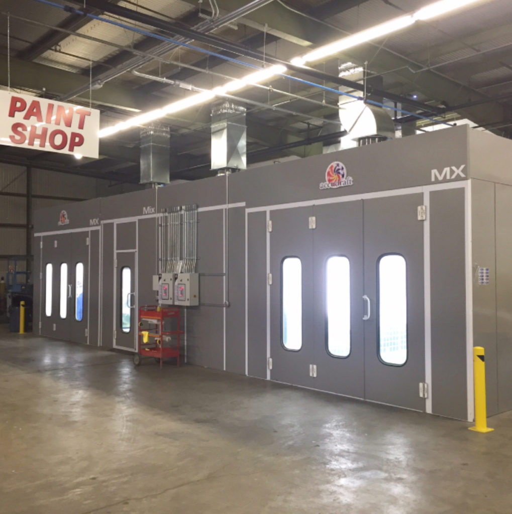 MX Paint Booth by Accudraft at Giannini's Auto Body Shop