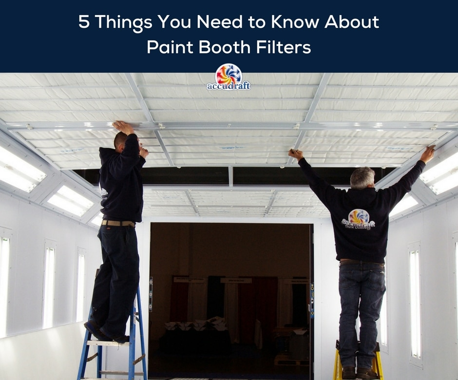 5 Things You to Need to Know About Paint Booth Filters - Accudraft