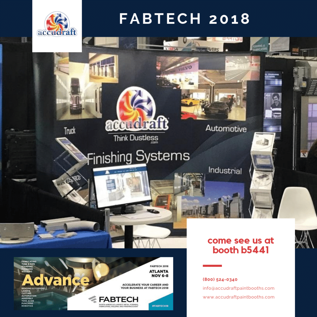 FABTECH 2018 - Accudraft Paint Booths