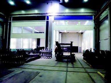 Roll Up Curtains for Accudraft Paint Booth