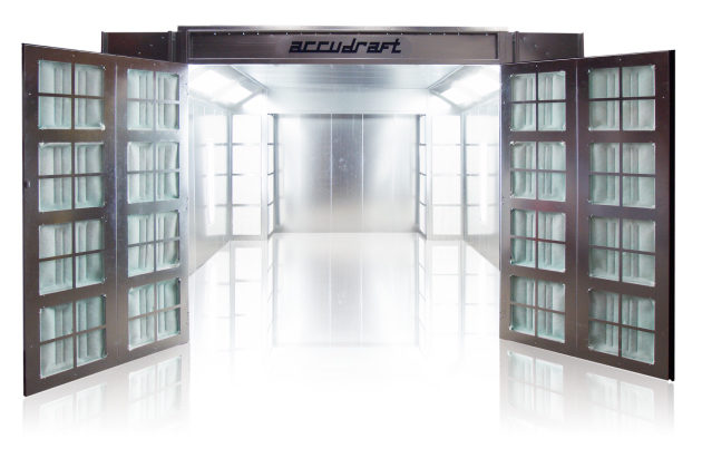 Accudraft pro series crossflow paint booth