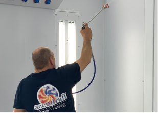 Accudraft paint booth cleaning service