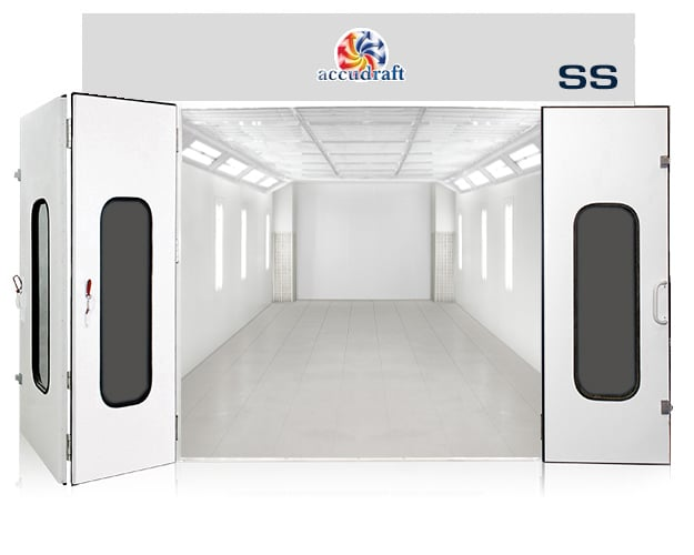 SS paint booth in white