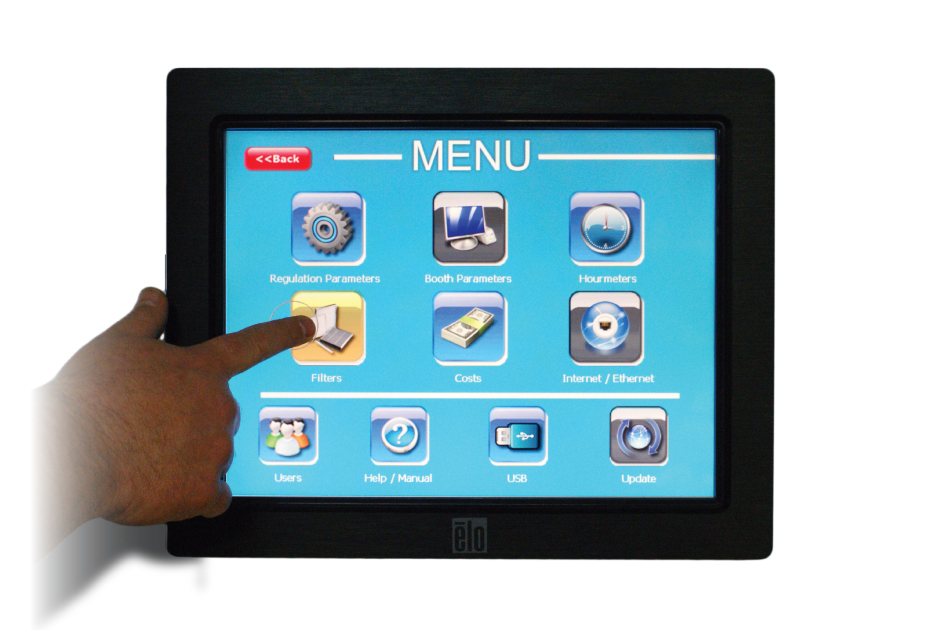 Accudraft Focus touch screen control panel