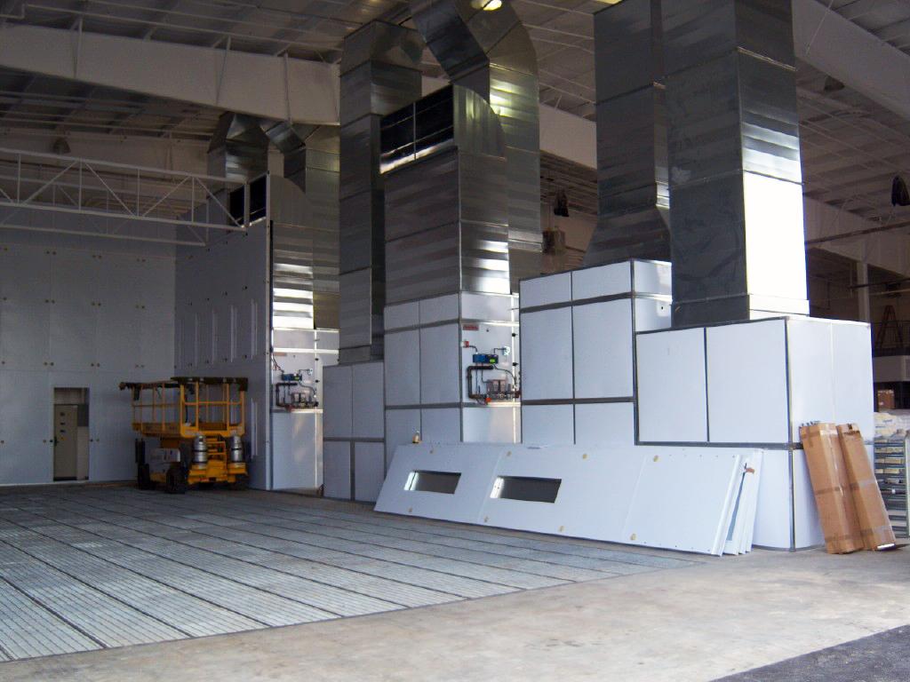 Areospace facility finishing equipment